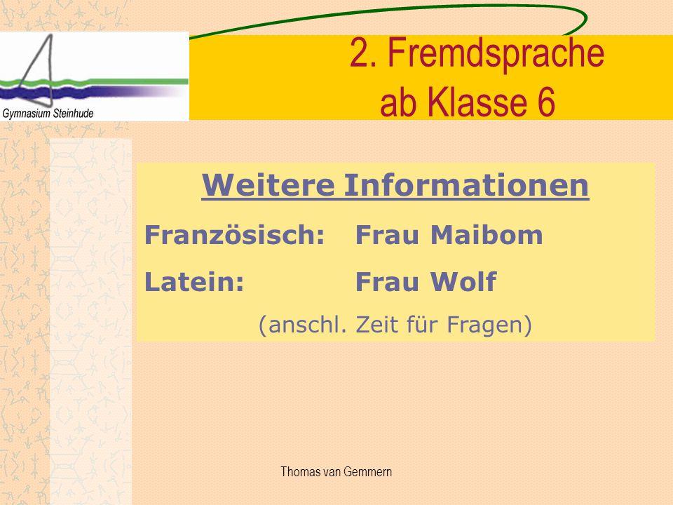 2. Fremdsprache ab Klasse 6