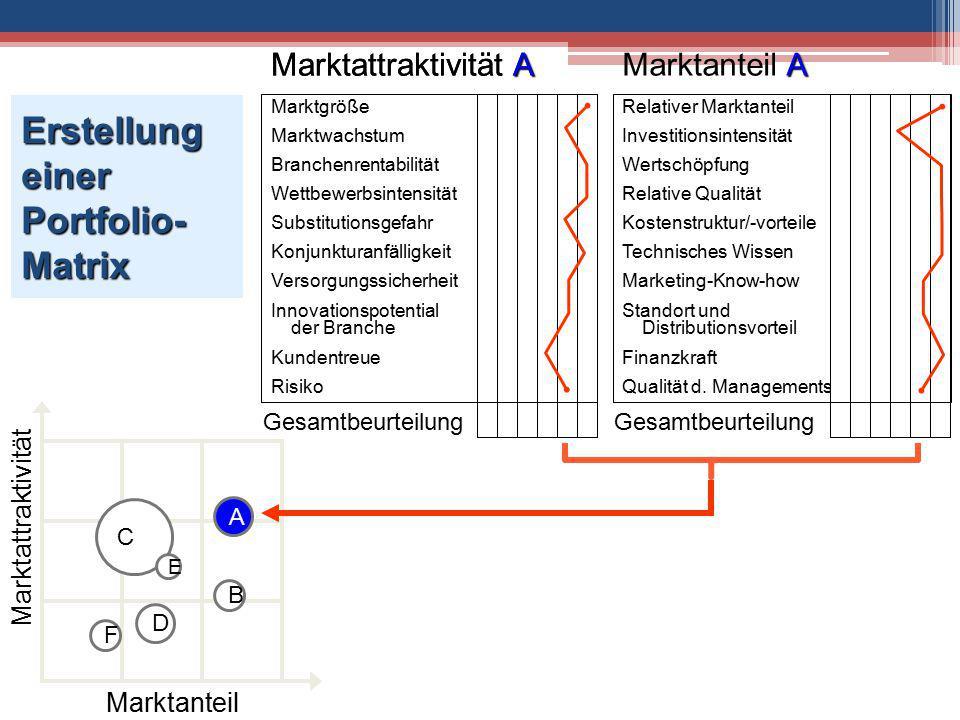 Erstellung einer Portfolio-Matrix