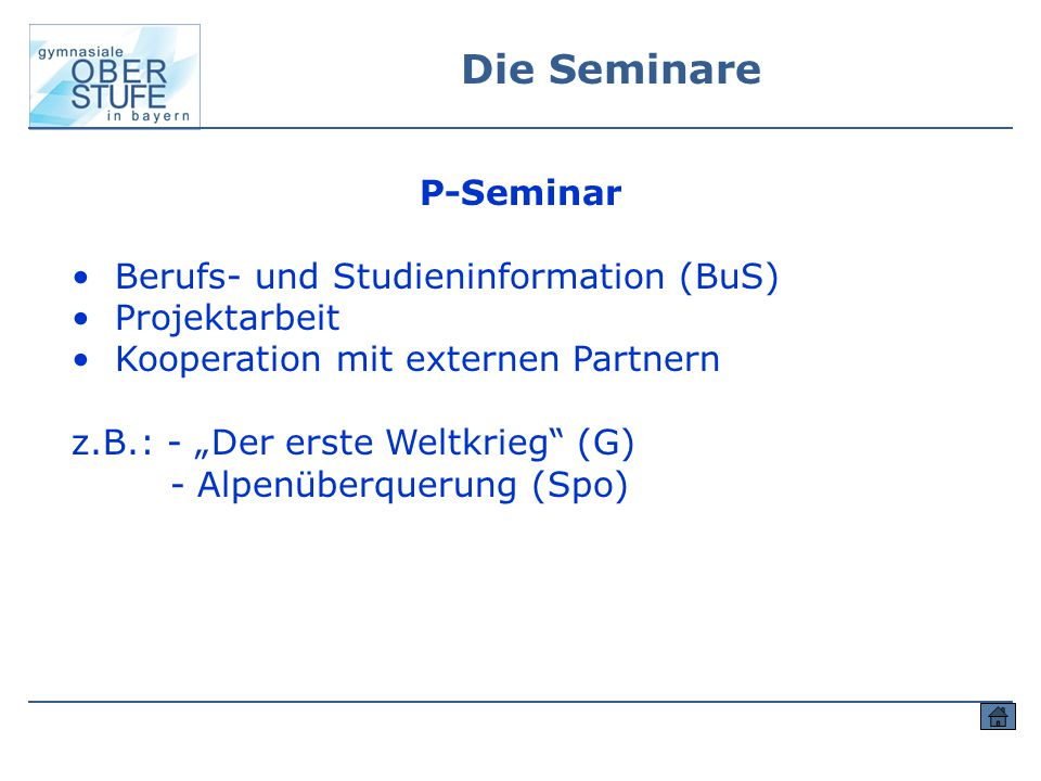 Berufs- und Studieninformation (BuS) Projektarbeit