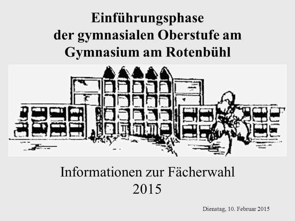 der gymnasialen Oberstufe am Gymnasium am Rotenbühl