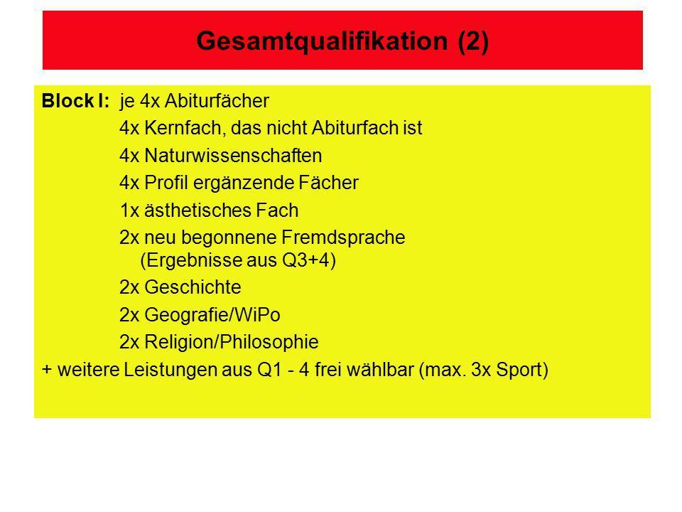 Gesamtqualifikation (2)
