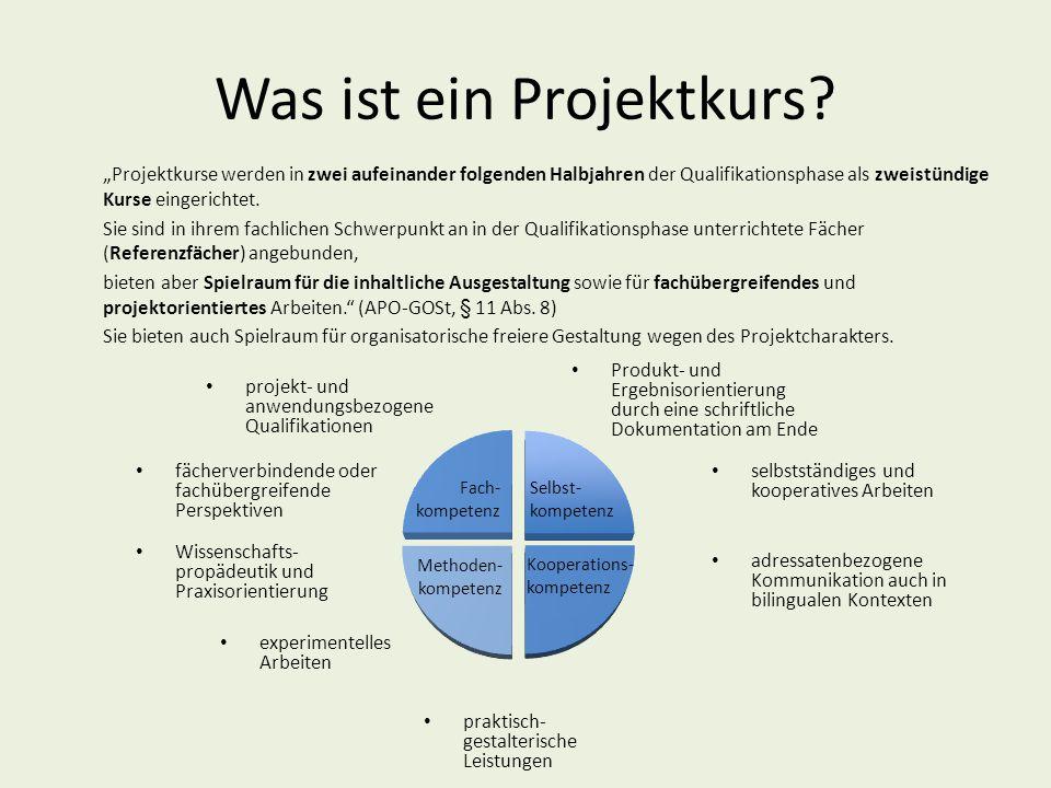 Was ist ein Projektkurs