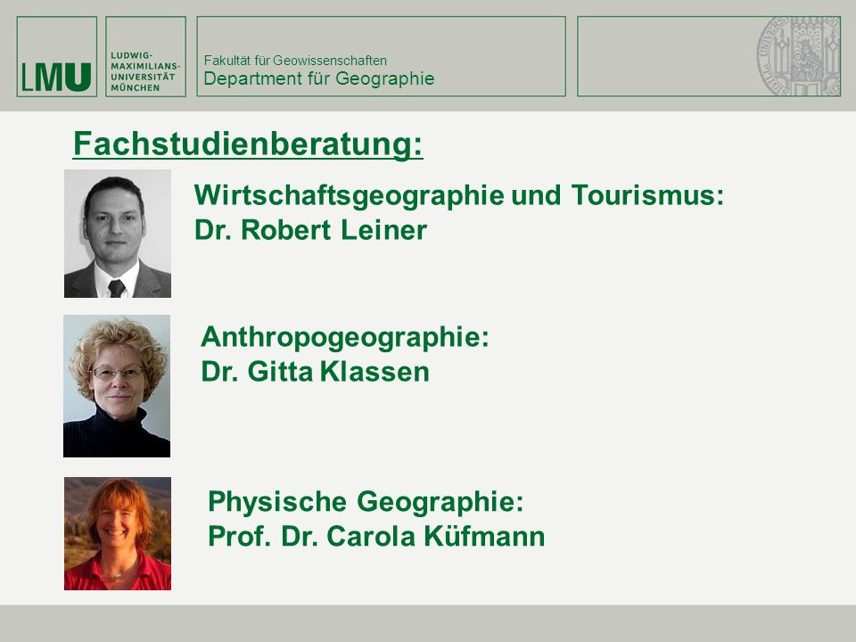Department für Geographie