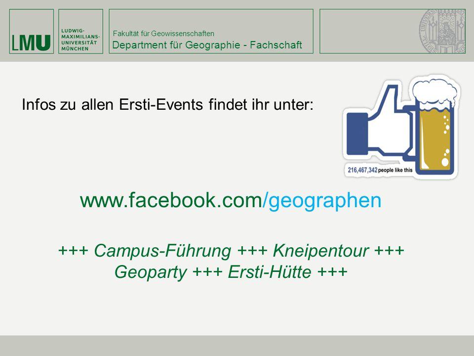 +++ Campus-Führung +++ Kneipentour +++ Geoparty +++ Ersti-Hütte +++