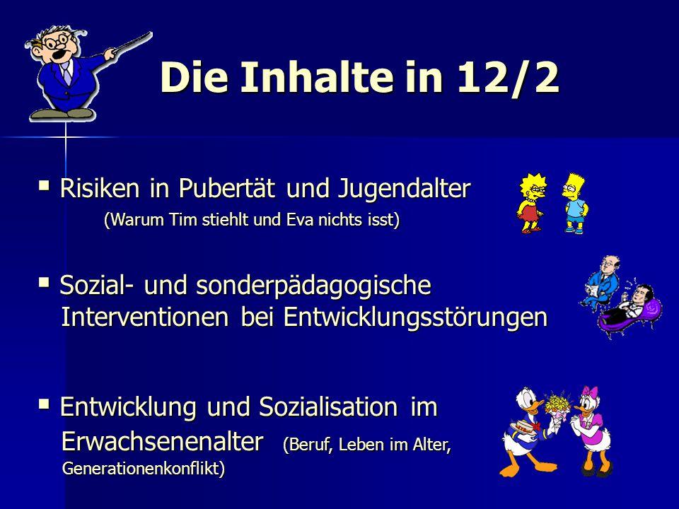 Die Inhalte in 12/2 Risiken in Pubertät und Jugendalter