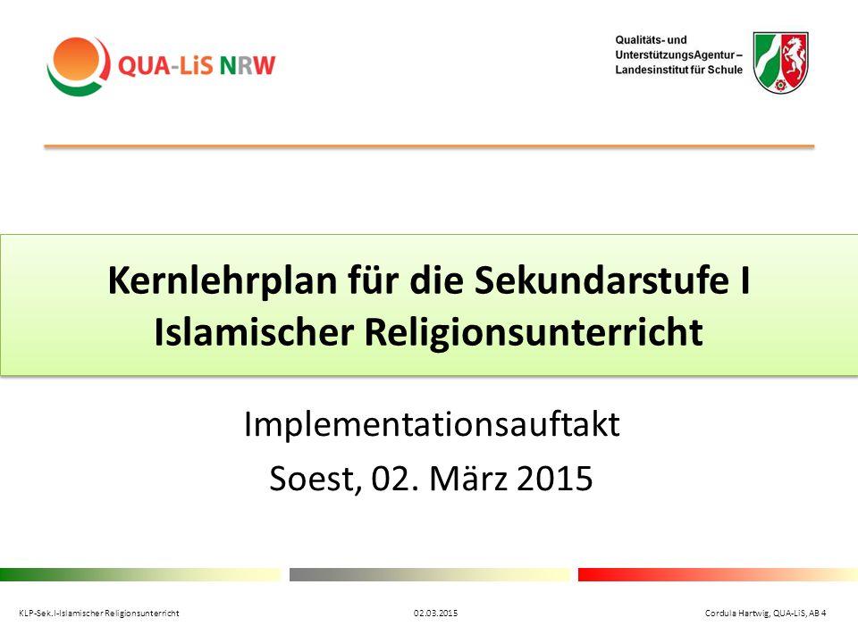 Kernlehrplan für die Sekundarstufe I Islamischer Religionsunterricht