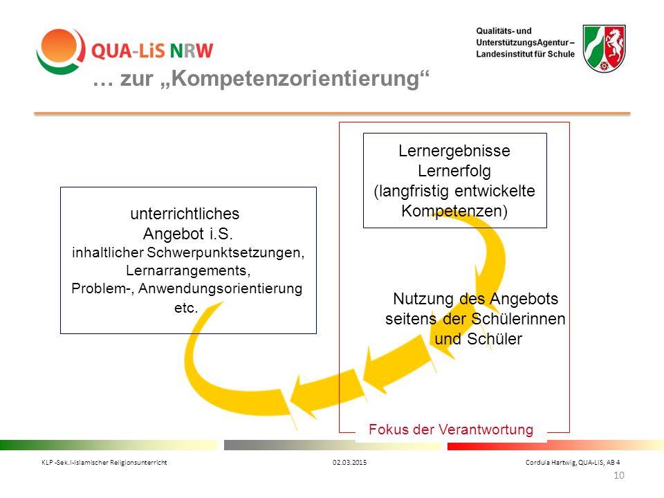 """… zur """"Kompetenzorientierung"""