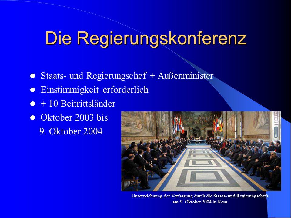 Die Regierungskonferenz