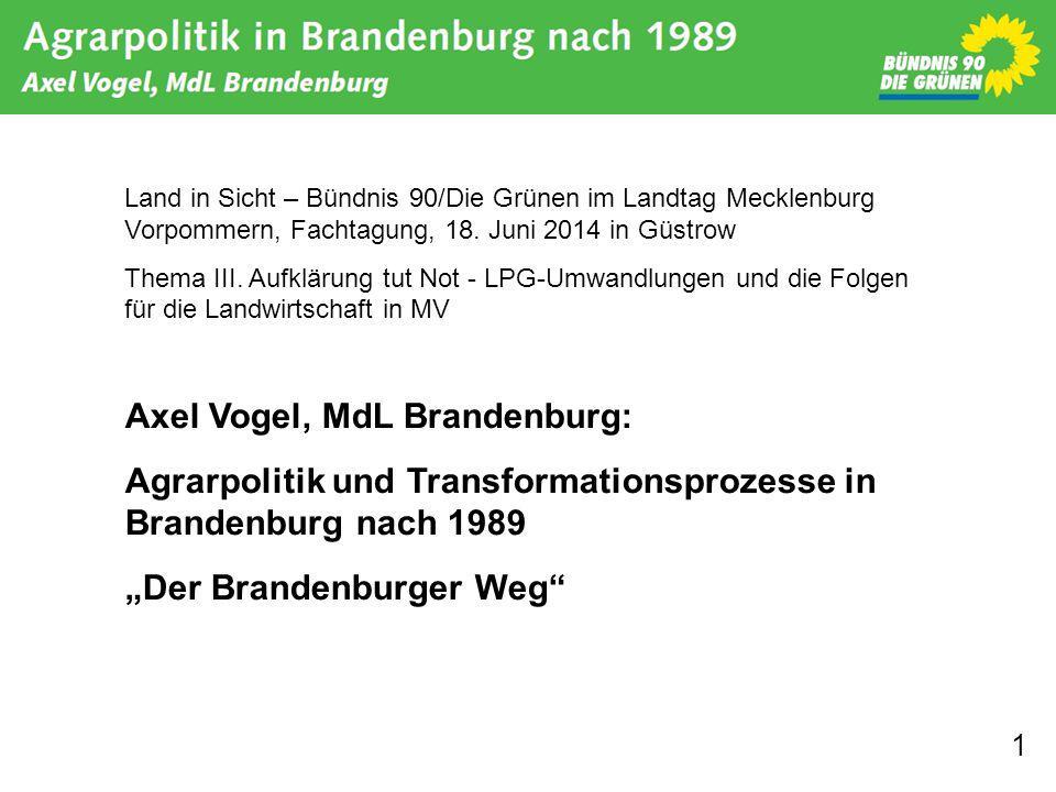 Axel Vogel, MdL Brandenburg: