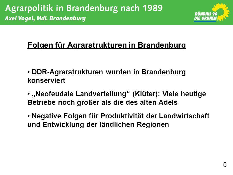 Folgen für Agrarstrukturen in Brandenburg