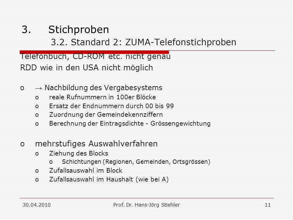3. Stichproben 3.2. Standard 2: ZUMA-Telefonstichproben