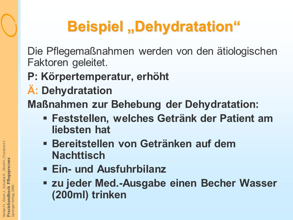 "Beispiel ""Dehydratation"