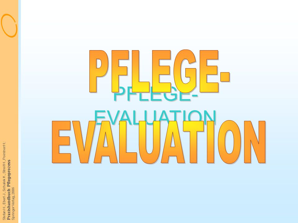 PFLEGE- EVALUATION PFLEGE- EVALUATION Praxishandbuch Pflegeprozess
