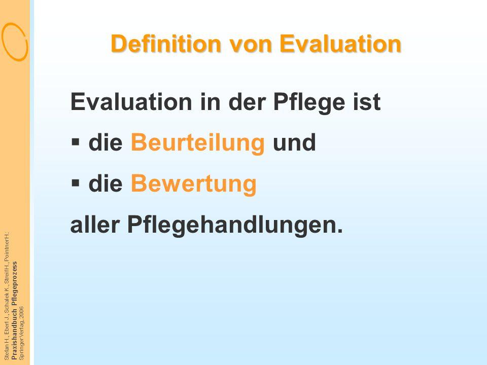 Definition von Evaluation
