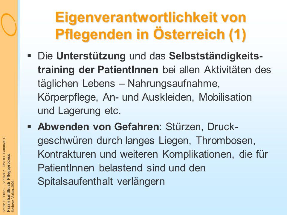 Eigenverantwortlichkeit von Pflegenden in Österreich (1)
