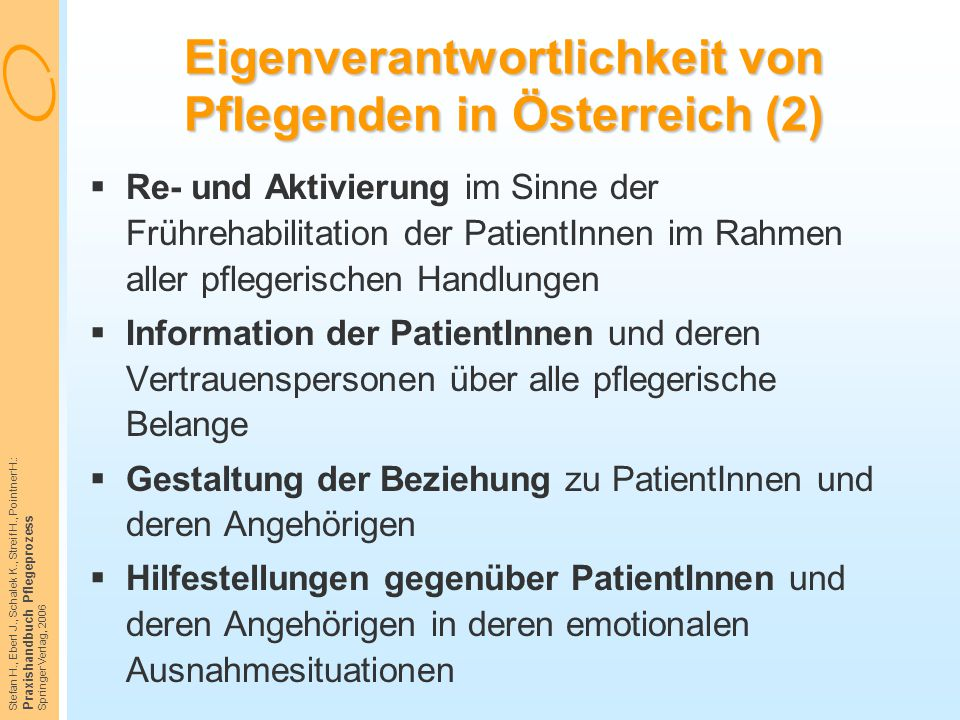 Eigenverantwortlichkeit von Pflegenden in Österreich (2)