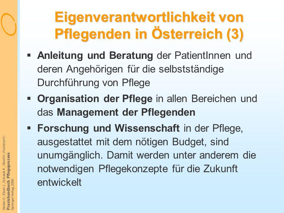 Eigenverantwortlichkeit von Pflegenden in Österreich (3)