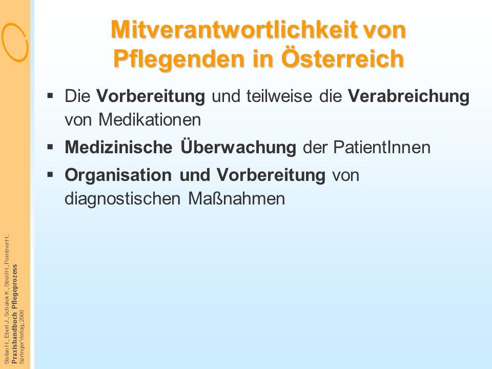 Mitverantwortlichkeit von Pflegenden in Österreich