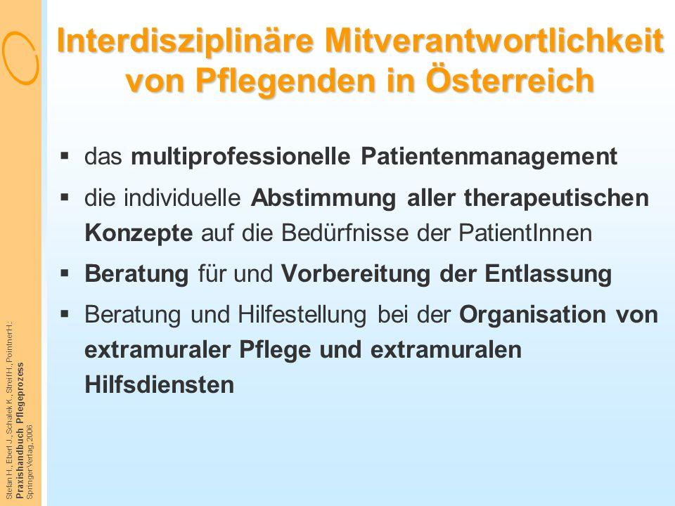 Interdisziplinäre Mitverantwortlichkeit von Pflegenden in Österreich