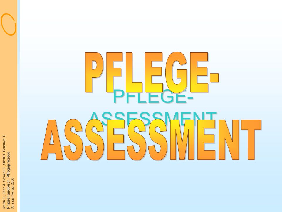 PFLEGE- ASSESSMENT PFLEGE- ASSESSMENT Praxishandbuch Pflegeprozess