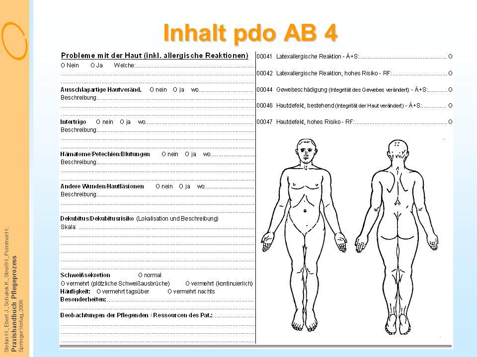 Inhalt pdo AB 4 Praxishandbuch Pflegeprozess