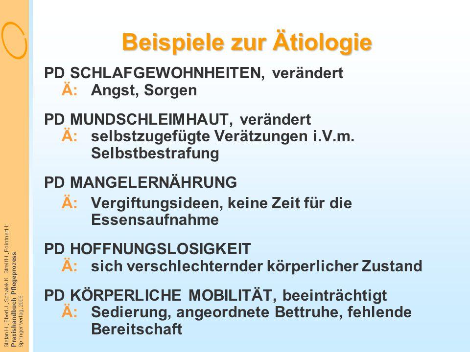 Beispiele zur Ätiologie