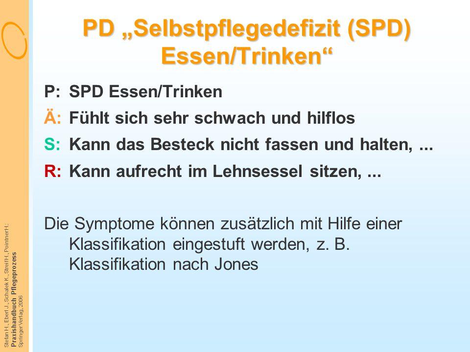 "PD ""Selbstpflegedefizit (SPD) Essen/Trinken"