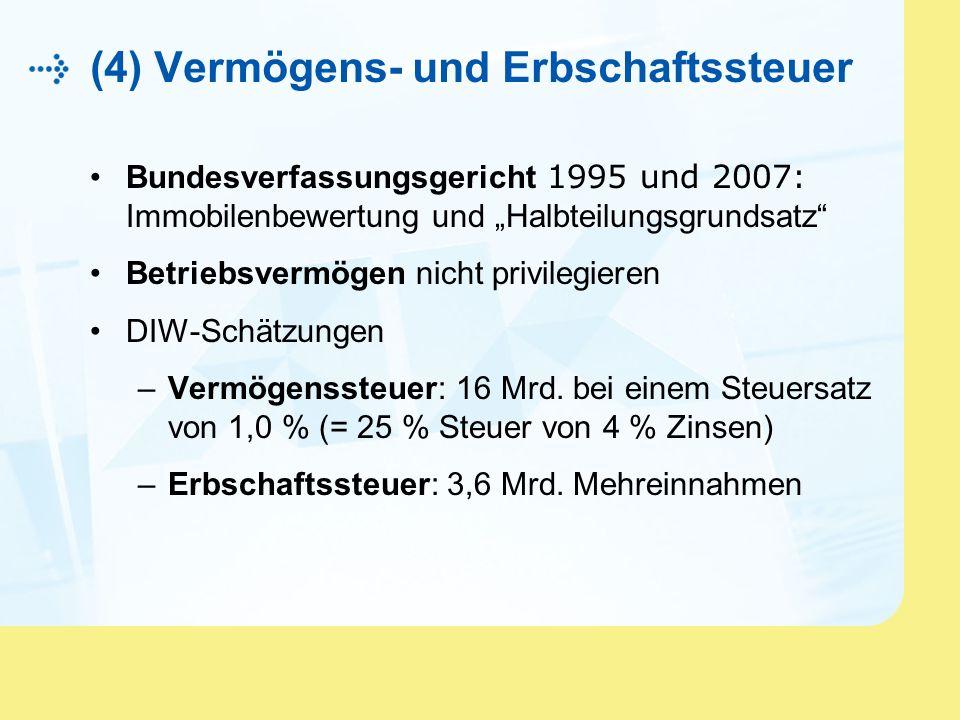 (4) Vermögens- und Erbschaftssteuer