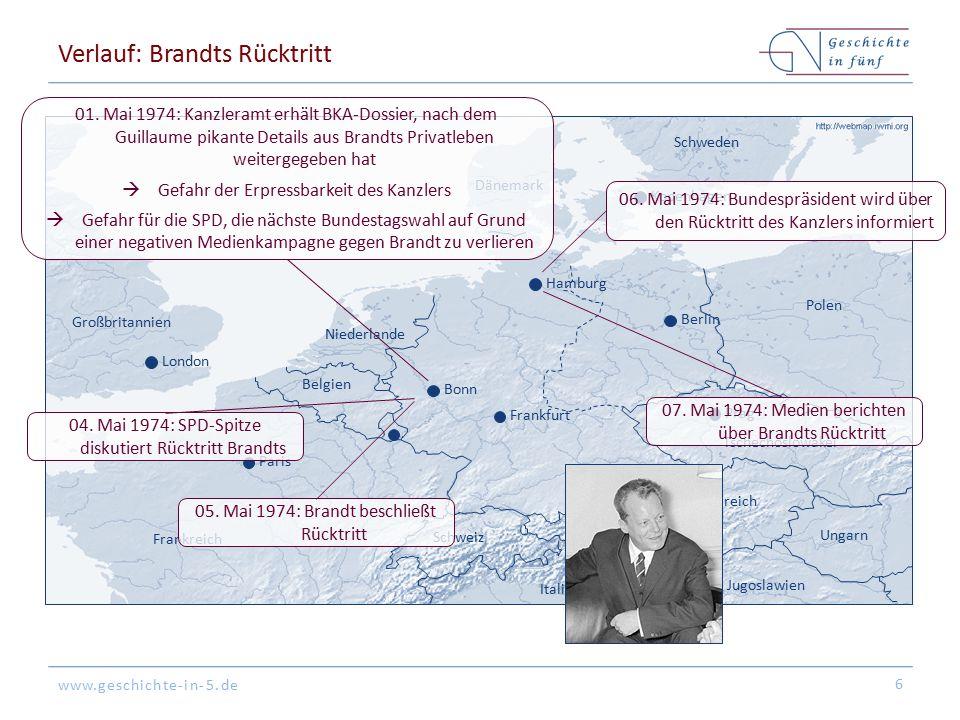 Verlauf: Brandts Rücktritt
