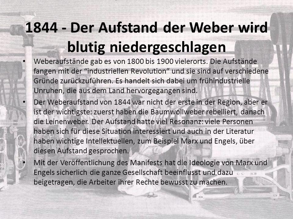 1844 - Der Aufstand der Weber wird blutig niedergeschlagen