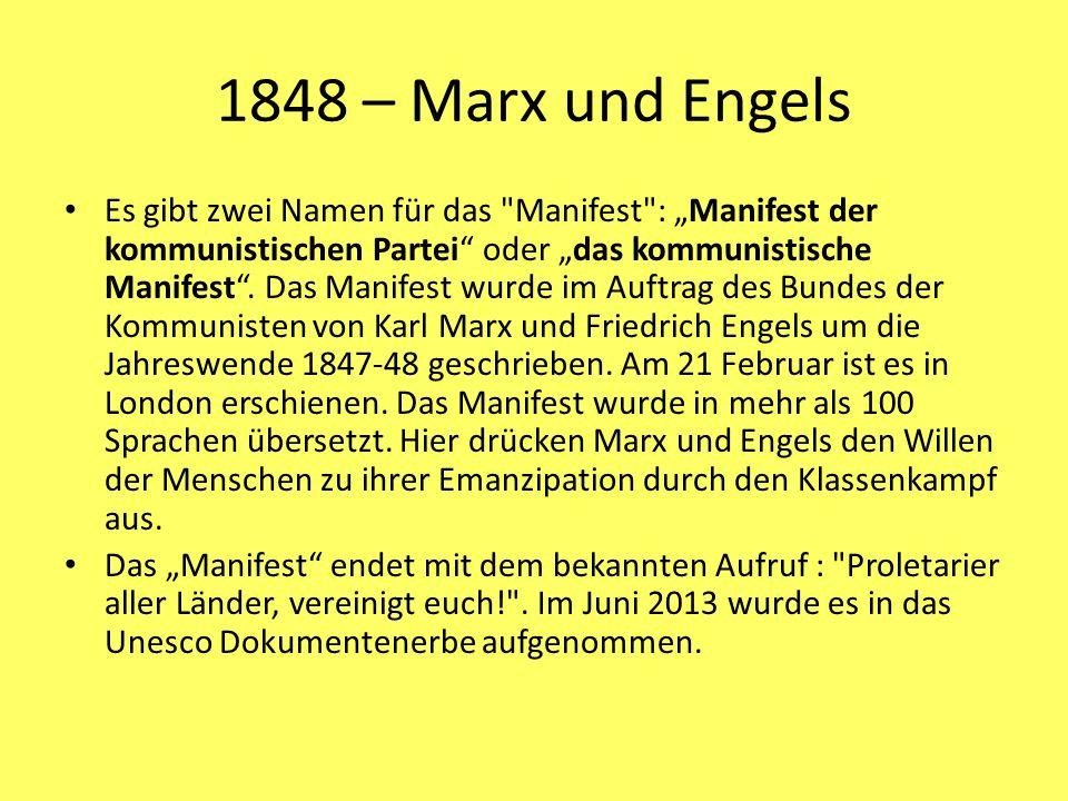 1848 – Marx und Engels