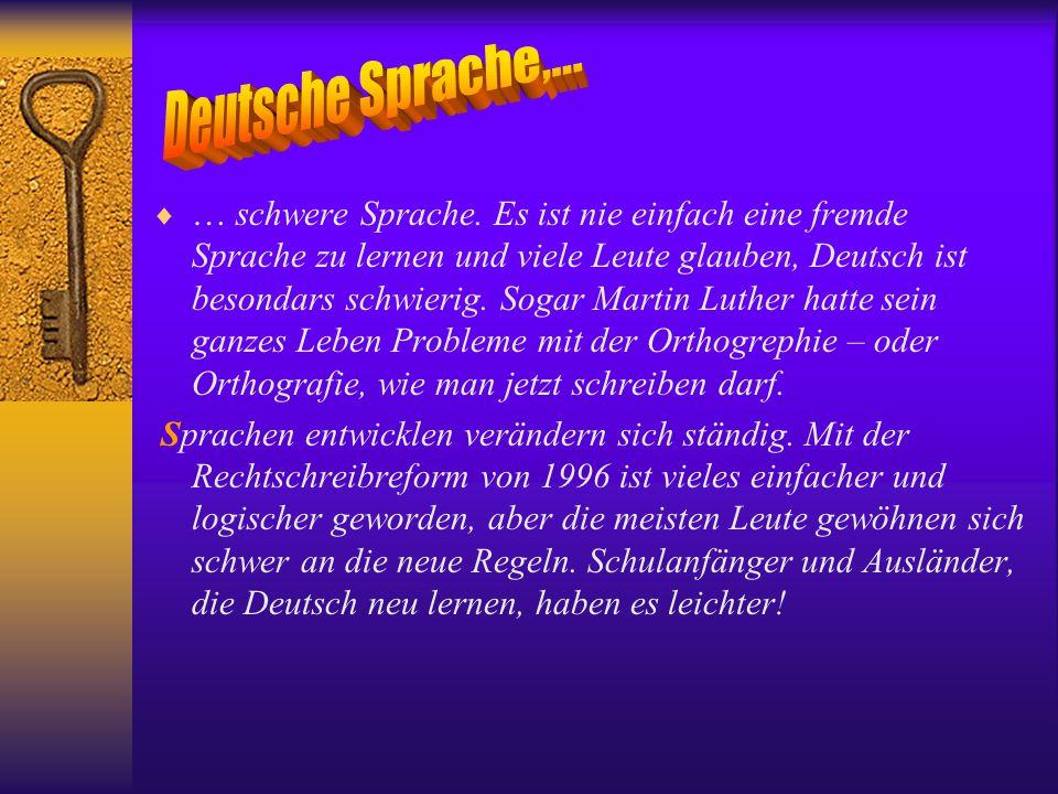 Deutsche Sprache,...