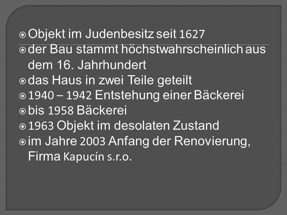 Objekt im Judenbesitz seit 1627