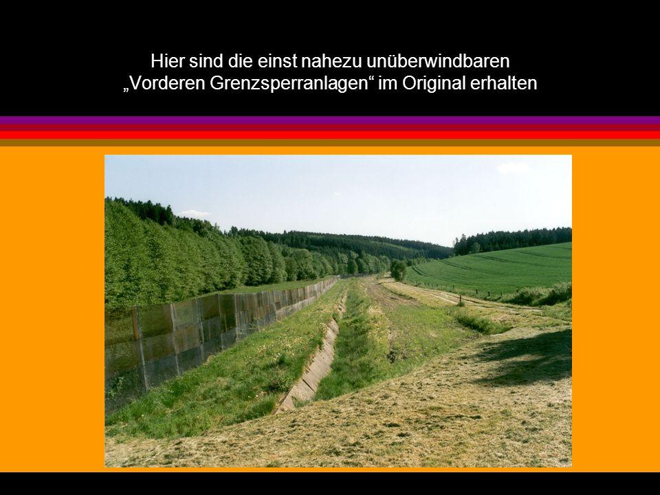 """Hier sind die einst nahezu unüberwindbaren """"Vorderen Grenzsperranlagen im Original erhalten"""