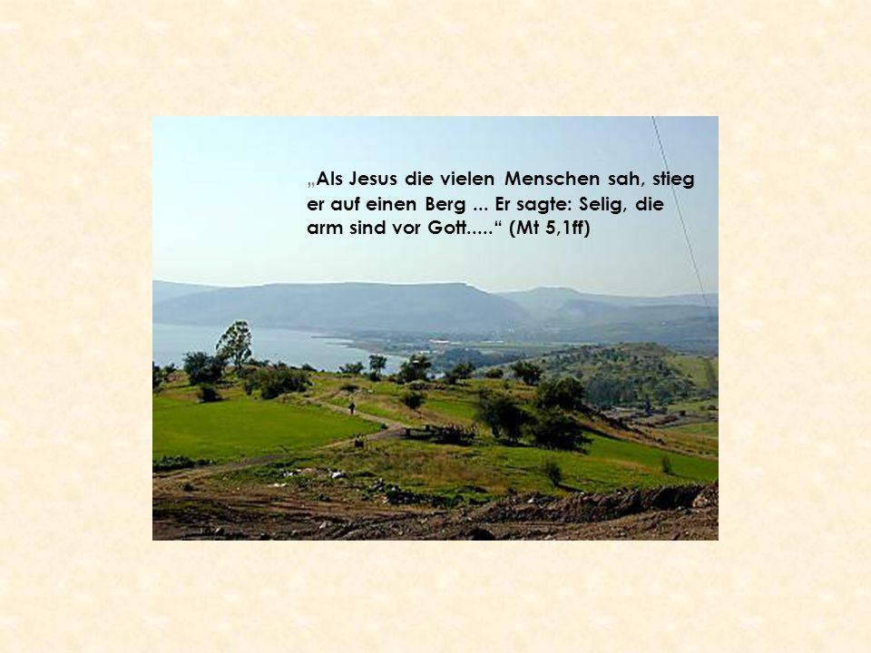 """""""Als Jesus die vielen Menschen sah, stieg er auf einen Berg"""