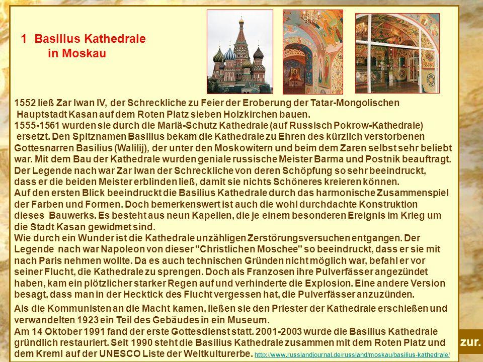1 Basilius Kathedrale in Moskau zur.
