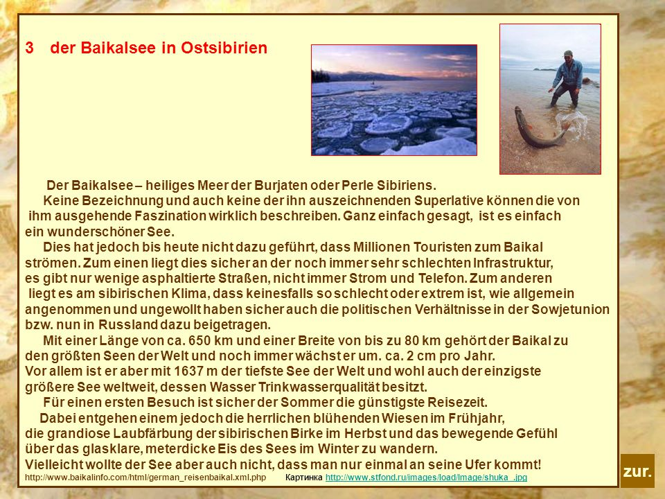 der Baikalsee in Ostsibirien