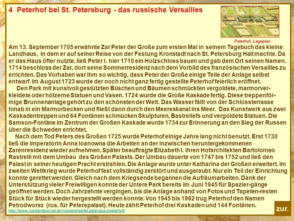4 Peterhof bei St. Petersburg - das russische Versailles