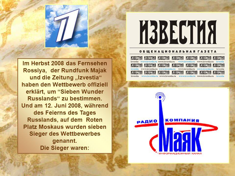 Im Herbst 2008 das Fernsehen Rossiya, der Rundfunk Majak