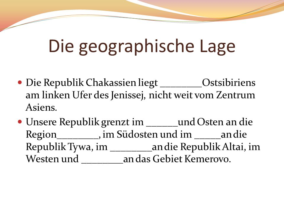 Die geographische Lage