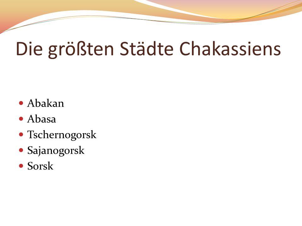 Die größten Städte Chakassiens