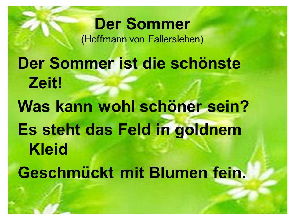 Der Sommer (Hoffmann von Fallersleben)