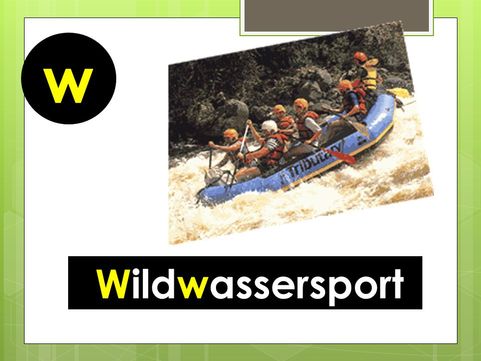 w Wildwassersport
