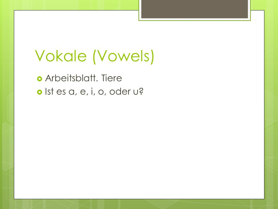 Nice Tracing Vokale Arbeitsblatt Vignette - Kindergarten ...