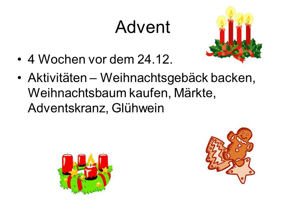 Advent 4 Wochen vor dem 24.12.