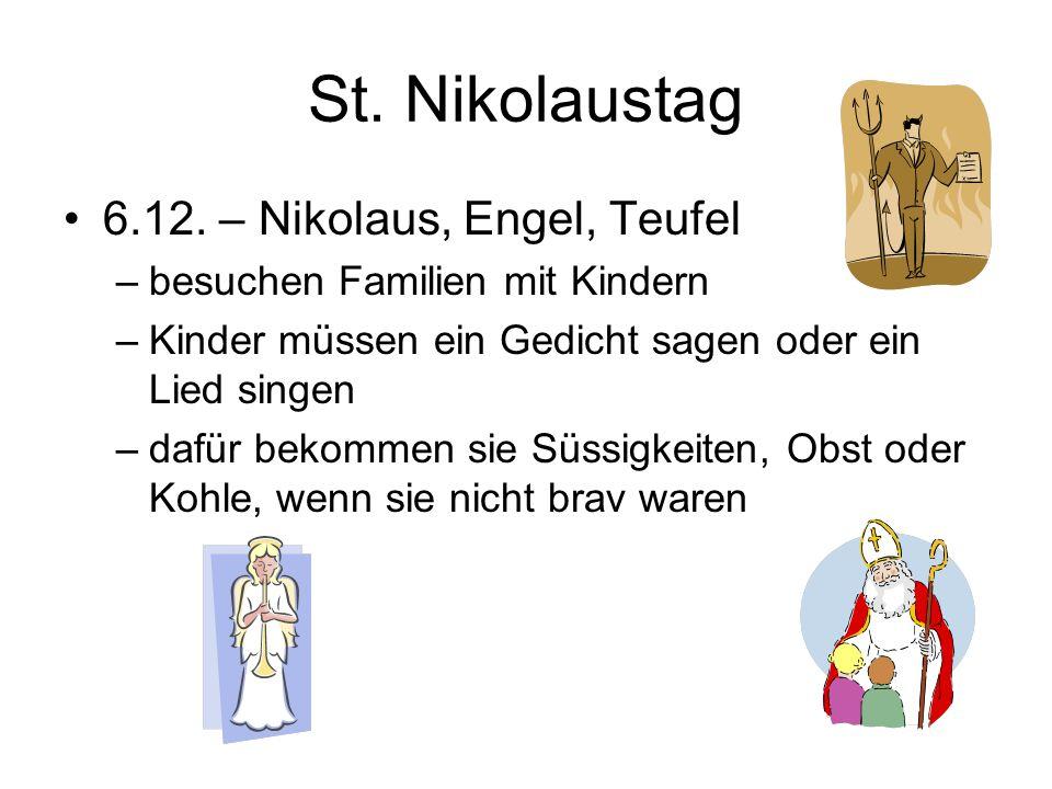 St. Nikolaustag 6.12. – Nikolaus, Engel, Teufel