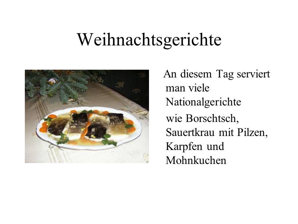 Weihnachtsgerichte An diesem Tag serviert man viele Nationalgerichte