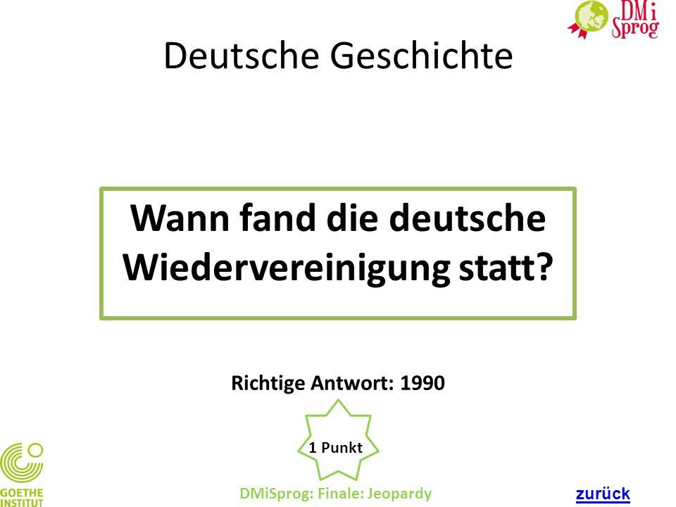 Wann fand die deutsche Wiedervereinigung statt