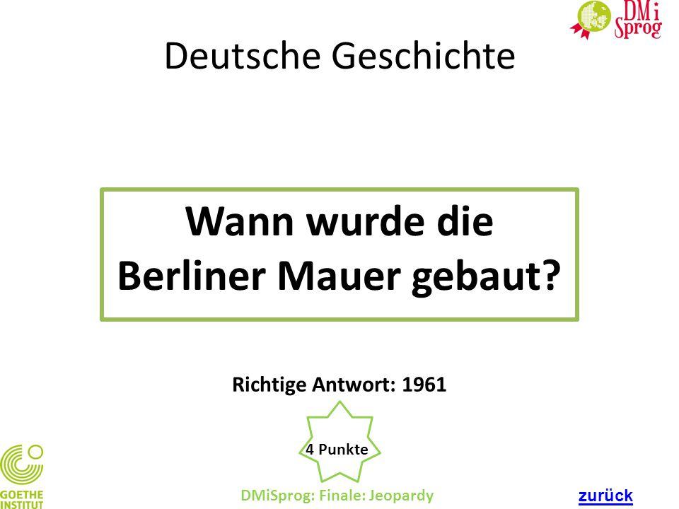 Wann wurde die Berliner Mauer gebaut