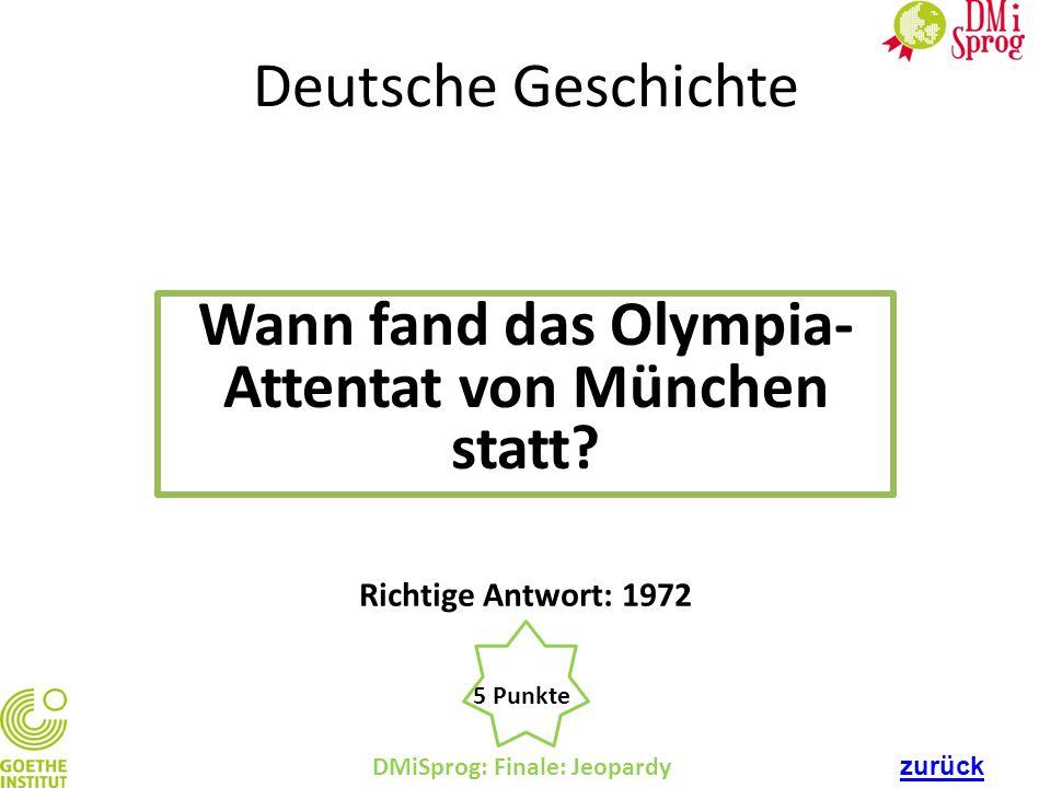 Wann fand das Olympia-Attentat von München statt